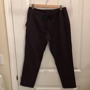 Lululemon maroon joggers/work pants